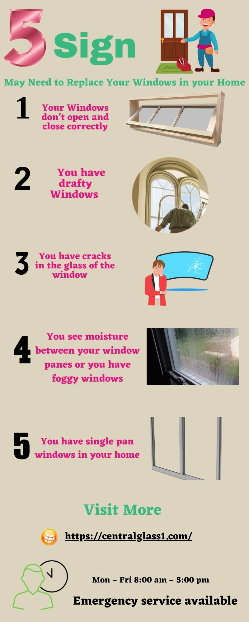 5 Sign May Need to Replace Your Windows in your Home