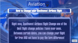 Southwest Flight Change Policy
