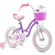 RoyalBaby Stargirl Girls Kids Bike 12 14 16 18 Inch, Purple
