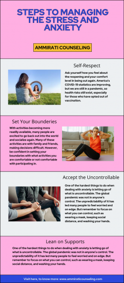 4 Steps to Managing the Stress and Anxiety