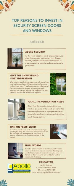 TOP REASONS TO INVEST IN SECURITY SCREEN DOORS AND WINDOWS