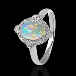 Buy Sterling Silver Opal stone Ring at Best Prices
