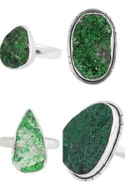 Buy Real Green Uvarovite Stone jewelry