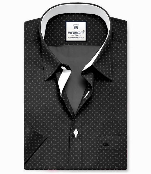 Mini Heart in Black Printed Slim Fit Shirts