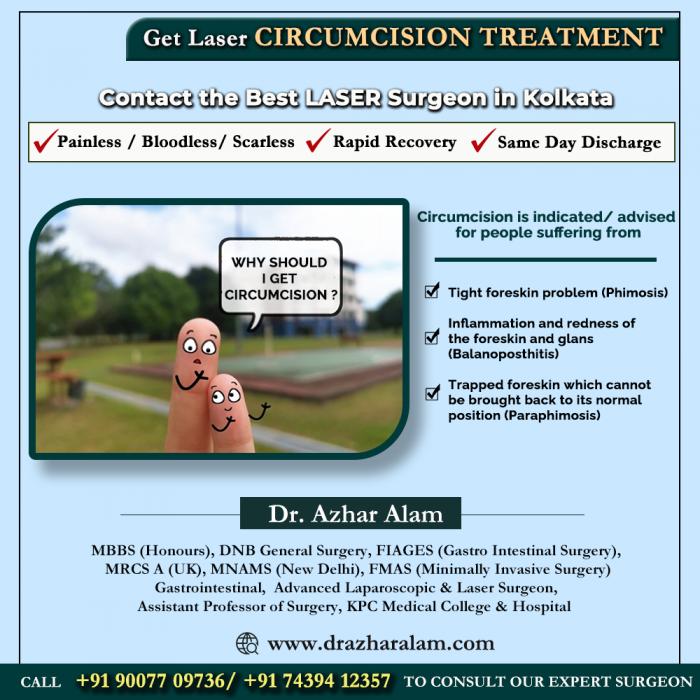 Circumcision Doctor in Kolkata   Laser Circumcision Surgery in Kolkata