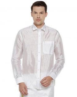 Pavithram White Silk Shirt