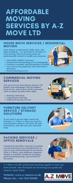 Affordable Moving Services By A-Z Move Ltd