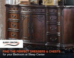 Find the Perfect Dressers & Chests for your Bedroom at Sleep Center