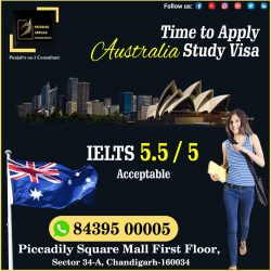 Right Time To apply #Australia Study Visa With 5.5 / 5 Bands IELTS / PTE.