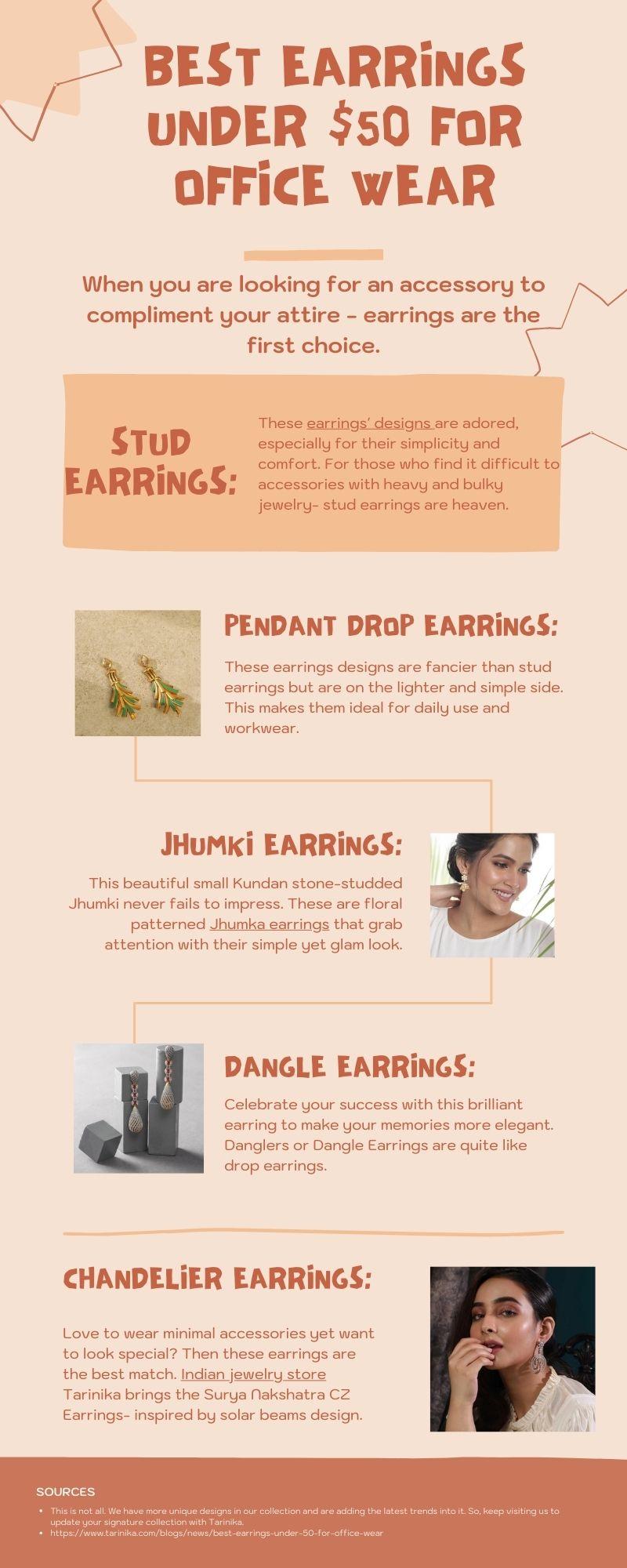 Best Earrings Under $50 For Office Wear