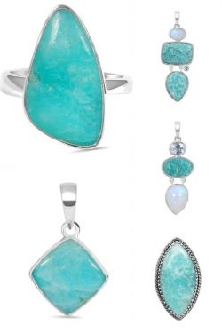Sterling Silver Wholesale Amazonite Jewelry Collection