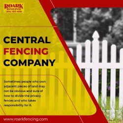 Select best central fencing company at Roark Fencing