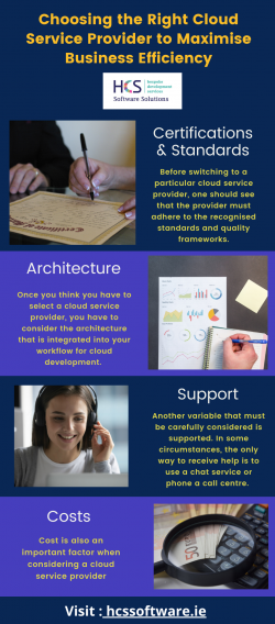 Choosing the Right Cloud Service Provider to Maximise Business Efficiency