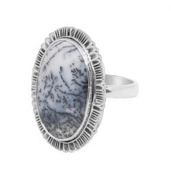 Magnificent Dendritic Agate Ring