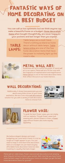 Fantastic ways of home decorating on a best budget
