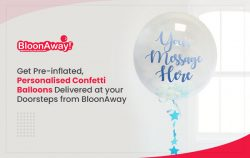 Get Pre-inflated, Personalised Confetti Balloons Delivered at your Doorsteps from BloonAway