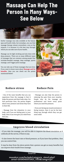 How is it beneficial to have massage?