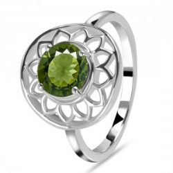 Buy Latest Design Green Moldavite Stone Ring