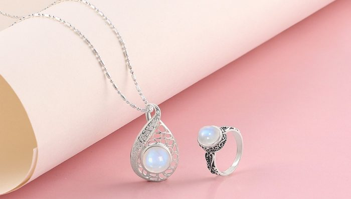 Buy Real Sterling Silver Moonstone Ring