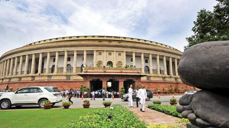 Opposition in the Rajya Sabha continues its commotion today, adjourned till 12 noon
