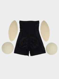 4 Removable Pads Enhancer Butt Lifter Shorts | High Waist Hip Booster & DuraFits