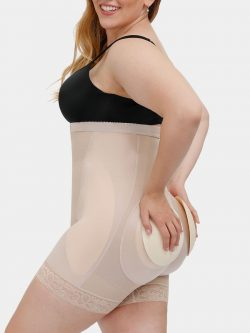 4 Removable Pads Plus Size Shorts Sculptor | Women's Shaper Shorts & DuraFits