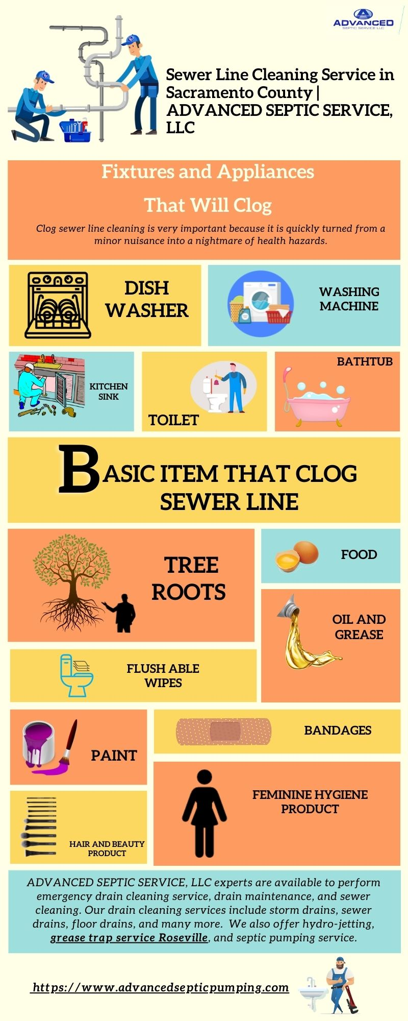 Sewer Line Cleaning Service in Sacramento County   ADVANCED SEPTIC SERVICE, LLC