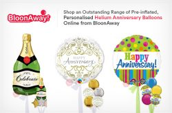 Shop an Outstanding Range of Pre-inflated, Personalised Helium Anniversary Balloons Online from  ...