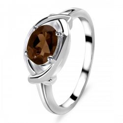Sterling Silve Smoky Ring For Beautiful Women.