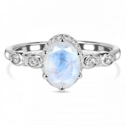 Silver Moonstone Rings in Wholesale Price at Rananjay Exports