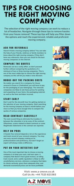 Tips For Choosing The Right Moving Company