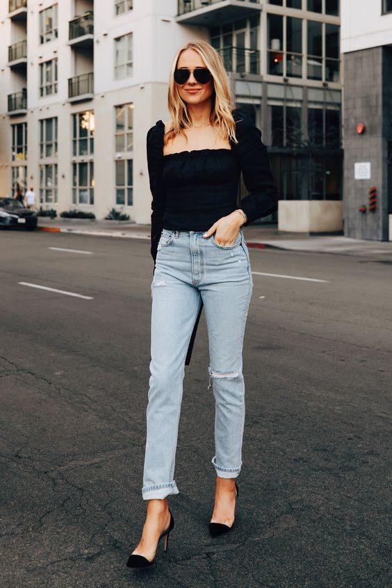 Trendy Jeans Top   Bnsds Fashion World