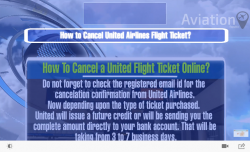 United Airlines Flight Ticket Cancellation Policy
