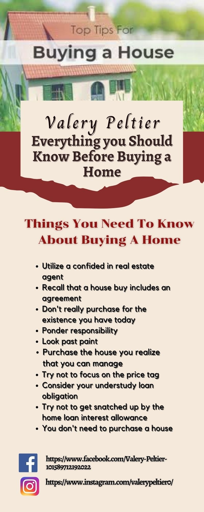 Valery Peltier – Everything you Should Know Before Buying a Home