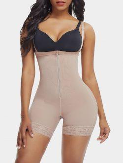 Zipper Detachable Straps Postsurgical Body Shaper | Shaping Shorts & DuraFits