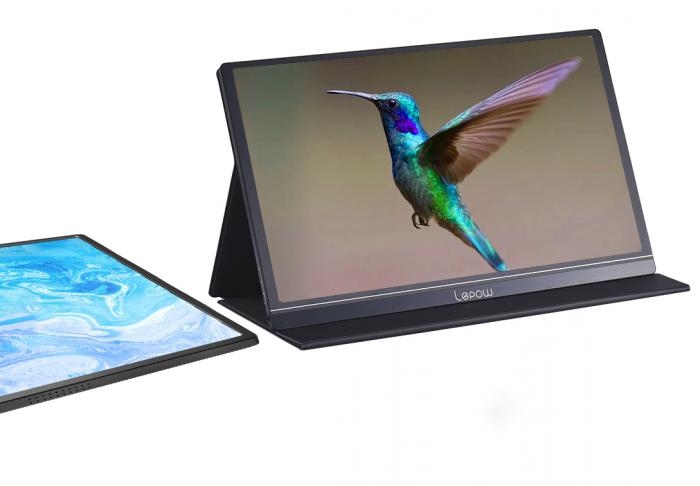 "LEPOW Z1 High Color Gamut 15.6"" FHD Portable Monitor – Black"
