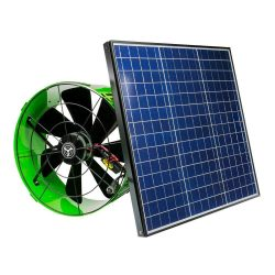 Gable Attic Fan 14″ with 40 Watt Solar Panel – 1486 CFM