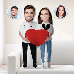 Love Gifts Custom MiniMe Pillow Personalized Couple Pillow Unique Photo Pillow