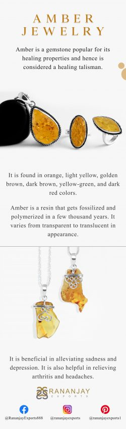 Buy Natural Yellow Wholesale Amber Stone Jewelry at Manufacture price.