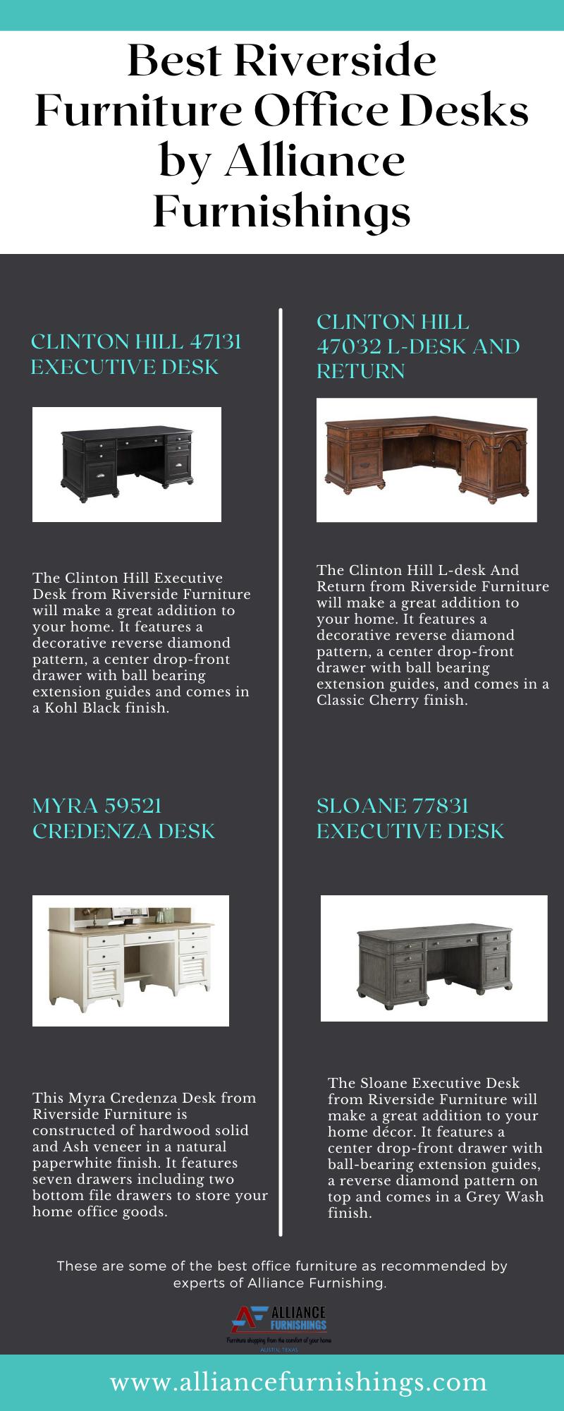 Best Riverside Furniture Office Desks