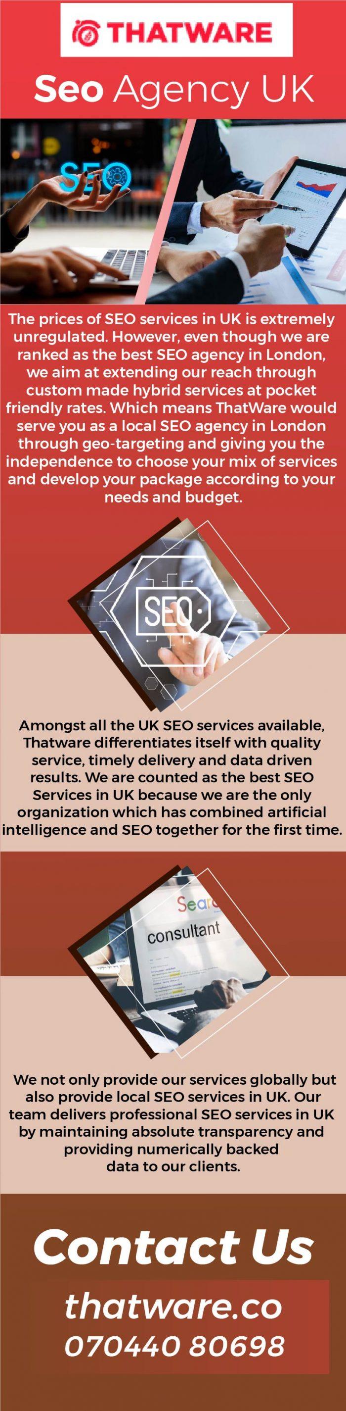 Best SEO Agency UK – Thatware LLP