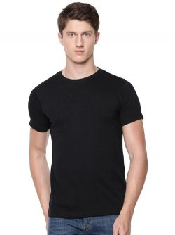 Mens Round Neck T-Shirt Black at Best Prices | Ramraj Cotton