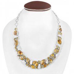 Brecciated Mookaite Stone Jewelry Collection.