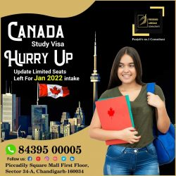 Canada Study Visa Hurry Up !!!!!!Limited Seats Left for Jan 2022 Intake
