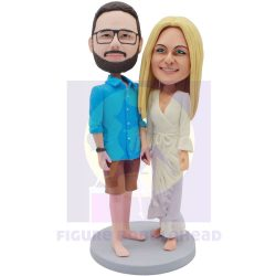 Custom Couple Bobblehead Hand In Hand–Best Gifts for Anniversary-Christmasgifts