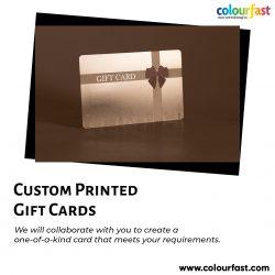 Custom Printed Gift Cards