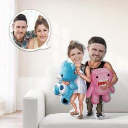 Romatic Gifts Custom MiniMe Pillow Personalized Couple Pillow Unique Photo Pillow
