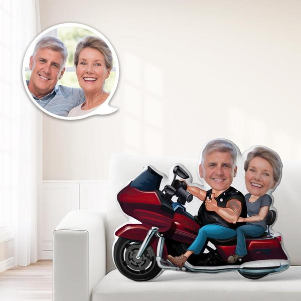 Locomotive Couple Gifts Custom MiniMe Pillow Personalized Couple Pillow