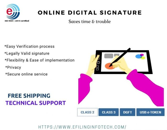 Online Digital signature certificate