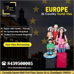 Europe 26 Countries Tourist Visa